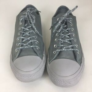 Converse Men's Gray Leather Chuck Taylor